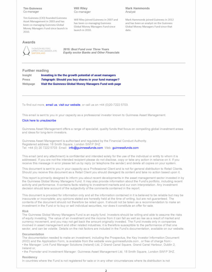 Best financial email templates