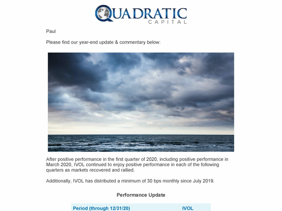 Best Newsletter Email Template for Hedge Funds