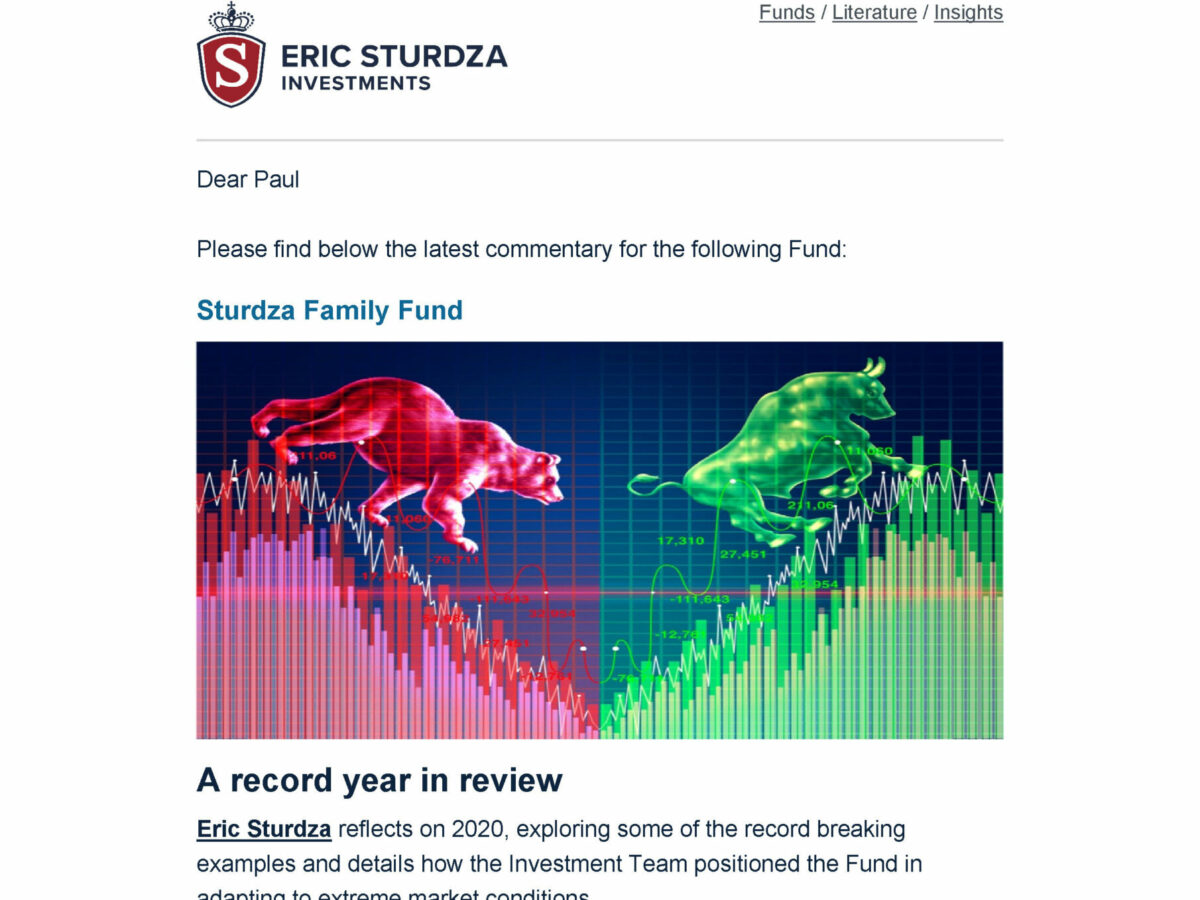 Investment banking email template