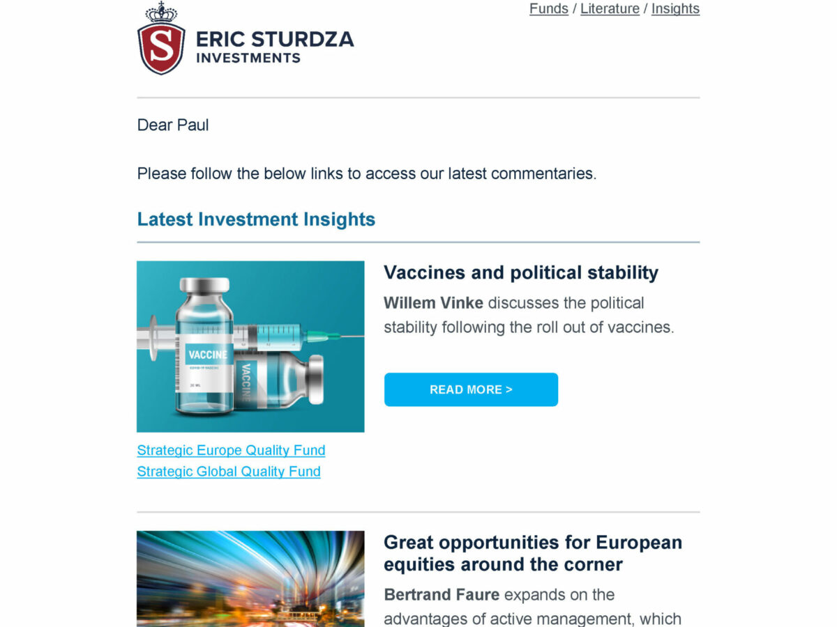 The best email template in financial services